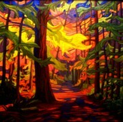 """Cathedral Grove""   30 x 30  oil on canvas   SOLD"