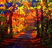 """Trail of Two Cities""   30 x 30  oil on canvas   SOLD"