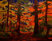 """Cathedral Grove""  16 x 20  oil on canvas SOLD"