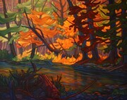 """ October Light ""  24x30 oil on canvas  SOLD"